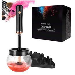 Опт Electric Makeup Щетка очиститель Электронные силиконовые макияж кисти набор очистки машины многофункциональные быстрые чистые моющие средства и сушильные инструменты косметики