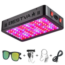 bestva led grow lights UK - BESTVA 1000W led grow light full spectrum for indoor plants lamp veg flower seed double chip dual switches