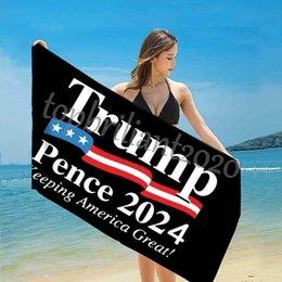 Опт Быстрый сухой февральная ванна пляжные полотенца президент Trump Towel US флаг печати коврик песок одеяла для путешествия