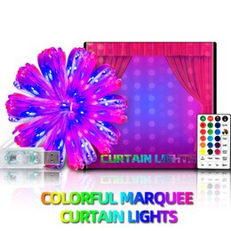 Christmas decorations colorful curtain lights LED Strips outdoor garden indoor wedding party holiday lighting on Sale
