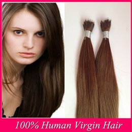High Quality 12-26 pcs Nano Ring Brazilian 100% real Human straight Hair Extensions
