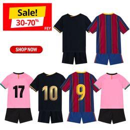 venda por atacado Jerseys de futebol de roupa de bebê personalizado Maillots de pé Jersey Jersey Kit de crianças uniformes uniformes personalizados ajustados 2020-21 pano de esportes