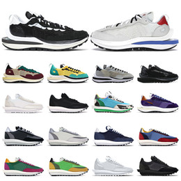 Wholesale pink tours resale online - Mens vaporwaffle shoes Obsidian Black White Nylon Sail Game Royal Tour Yellow Green Chunky Dunky Grey womens trainers Sports sneakers