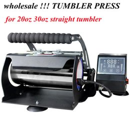 Großhandel Großhandel!!! Tumbler Presse Wärmepresse Transfermaschine Sublimation DIY für 20 che 30oz Skinny Gerade Tumbler 110V Thermal Transfers Maschinen