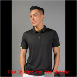 Discount slim fit gym t shirt Gym Polo Running Shirt Men Quick Dry Breathable Golf T-shirts Running Slim Fit Tops Tees Sport Fitness Gym Tenn qylSXI abc2007