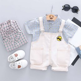 12 months year old baby clothes Australia - Boys' summer 0-1.5 years 6-12 months old pants suit 2 baby Korean fashion 3 clothes