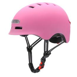 Illuminated Warning Light Helmet Motorcycles Cycling Electric Scooter Balance Car & Single Lens Visors Moto Casco Safety Helmets on Sale