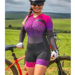 Wholesale Racing Sets F Women Triathlon Long Sleeve Macaquinho Cycling Clothing Cyclisme Hombre Skinsuit Tri Suit MTB Jumpsuit