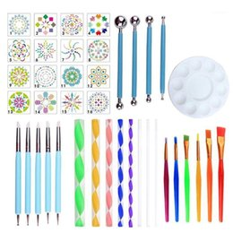 Discount mandala painting 40pcs set Mandala Dotting Pen Tools Set For DIY Painting Rock With Stencil H05B1 Gift Sets