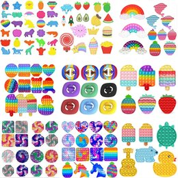 DHL TIKTOK Party Gift Rainbow It Fidget Toy Sensory Push Bubble Autism Special Needs Office Workers' Anxiety Reduces Stress