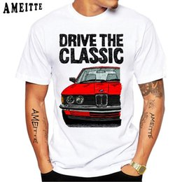 driving t shirts Australia - New Summer Men Short Sleeve Drive The Classic E21 Double Headlights T-Shirt Funny Cars Design Casual Tops Hip Hop White Tees