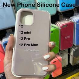 venda por atacado Caso de silicone de qualidade OEM original para iPhone 12 12Mini 12Pro 12Pro max com pacote para iPhone 12
