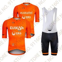 Wholesale Racing Sets Euskaltel DBA Euskadi Pro Team Cycling Jersey Set Short Sleeve Shirt Road Breathable Wear Maillot Cyclisme Ropa Ciclimo