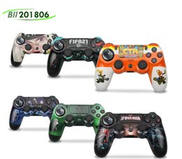 NEW camouflage PS4 Wireless Bluetooth Controller Vibration Joystick Gamepad Game Controllers for Sony Play Station With box package 6 Color 2021 on Sale