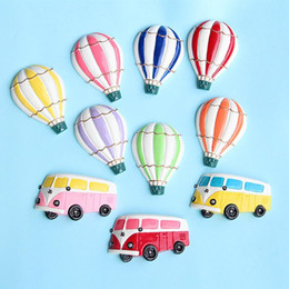 cute travel accessories Australia - Cute Fridge Magnets Hot Air Balloon Refrigerator Magnetic Sticker Retro Bus Travel Souvenir Home Decoration Accessories