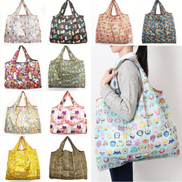 New Waterproof Nylon Foldable Shopping Bags Reusable Storage Bag Eco Friendly Shopping Bags Tote Bags Large Capacity Free Shipping WX9-203