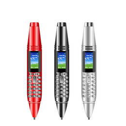 "Wholesale Smart Devices Mini Pen Mobile Phone 0.96"" Screen Pens Shaped 2G CellPhone Dual SIM Card GSM Mobiles Telephone Bluetooth Flashlight MP3 FM Voice Recorder"