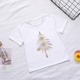 new vogue patterns 2021 - New Christmas Shirt Kids Cute Gift Tree Flash Star Pretty Pattern Boys T Shirts Vogue Girls T-shirt Leisure Round Neck Harajuku Q0203