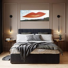ingrosso labbra dell'uomo-Man Ray Lips Osservatorio Time The Lovers Home Decoration Handcrafts HD Stampa Ampia pittura ad olio su tela Wall Art Canvas Picture