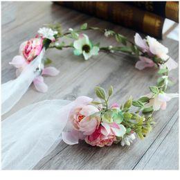 Mariage Fleur Fille Voile Bandeau Couronne Diadème Communion Garland Mantilla Tiara G