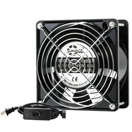 Wholesale exhausted fan resale online - SXDOOL AC V V V mm cm Cooling Fan with Switch Power Cord for Grow Tent GreenHouse DIY Cooling Ventilation Exhaust