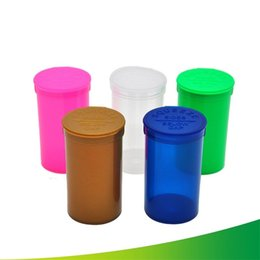 ingrosso fumo pop-19 DRAM Vuoto Squeeze Pop Pop Top Bottle Dry Herb Box Box Case Case Erb Container Stoccaggio ermetico Case Smoking Accessori per fumare Stash Jar V2