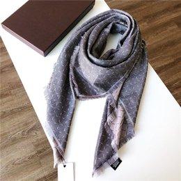 Wholesale brand scarves womens and men senior long Lamé shawls Fashion tourism soft Top Designerluxurygift printing Cotton Scarf on Sale