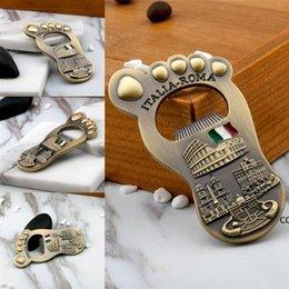 Creative Design Italy Beer Bottle Opener Fridge Magnet Baby Shower Gift Wedding Party Favors Foot Shape Openers DHB11414 on Sale