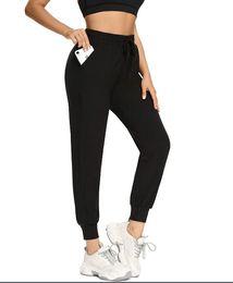 Sweatpants for Women-Womens Joggers med fickor Lounge byxor för yoga träningspass