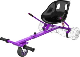 Scooter Parts & Accessories Frame Length Adjustable Hover Board Seat Accessory with Shock Absorption for Kids Adults (Purple)