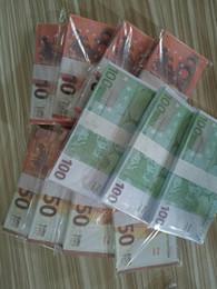 BAR PROP FAUX GULET 10 20 50 100 200 500 евро Поддельные фильмы деньги вечеринка Детские игрушки для взрослых игра 100 шт. / Пакет 05 на Распродаже