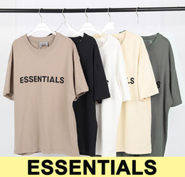 ingrosso 3d magliette degli uomini-20ss Ins Hot Spring Summer Hip Hop Fear Of God Front Essentials D Silicon Tee Skateboard T Shirt Nebbia Uomo Donna Manica corta T shirt casual