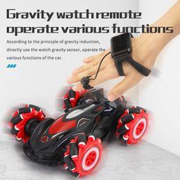 Wholesale RC Car 4WD Radio Control Stunt Car Gesture Induction Twisting Off-Road Vehicle Light Music Drift Toy Spray Climbing RC Car 0005