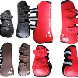 Toptan satış At Bakım Ürünleri için Ekipmanlar 4 ADET Ön Arka Çizmeler Ayarlanabilir At Bacak Çizmeler Equine Ön Arka Bacak Büresi Binicilik 251 X2