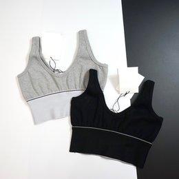 Großhandel 2SS Neueste Die meisten perfekten Frauen Tanks Sexy Luxus Mode Camis Weste Yarn-gefärbte Jacquard Bequeme Atmungsaktive Slim Club Sports Sleeveless Sommer Muss Tops haben