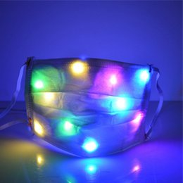 half face light up mask Australia - LED Light Glowing Masks Nightclub Luminous Halloween Light Up Half Face Mask Disco Party Mouth Cover ZC113