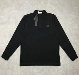 Опт Новый дизайнер мужские Polos высококачественная вышивка хлопчатобумажные футболки роскошный с длинным рукавом рубашки поло повседневная рубашка мужская одежда