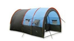5-10 person big doule layer tunnel tent outdoor camping family party hiking fishing tourist tent house on Sale