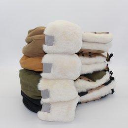 Großhandel Männer Trapper Hüte Winter Outdoor Sport Warme Kappe Hohe Qualität Feste Farbe Druck Muster Frauen Hut