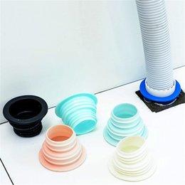Großhandel NewPlastic Deodorant Waschmaschine Rohrverbinder Werkzeuge Dichtungssteckerfalle Anti-Geruch-Teleskop-Kanal-Rohr-Zubehör EWF7671