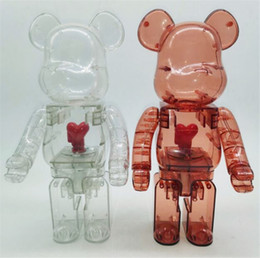 New 400% 28CM Bearbrick The ABS design of hearts Fashion bear figures Toy For Collectors Be@rbrick Art Work model decoration toys on Sale