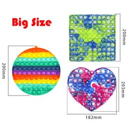 Fidget Toys Big Size game Push Bubble for Autism Special Needs Reliever Adult Stress Relief Toy Antistress Poppit Soft Squishy Anti-Stress Gift flower simple Funny