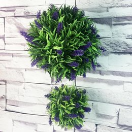 plastic green grass balls Australia - NEW 30cm Green Grass Ball Plastic Lavender Plant Ornament Garden Decor Artificial Ball For Party Hanging Flower Wedding W8A6