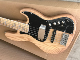 elm solid wood UK - Factory store nature 5 string elm ash wood Marcus Miller active pickups Jazz Bass electric bass guitar guitarra