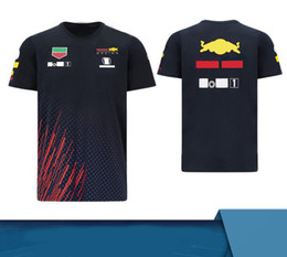 F1 team 2021 season team uniform short-sleeved polyester quick-drying customizable motorcycle racing suit T-shirt downhill short-sleeved sum on Sale