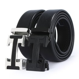 2020 Models Brand-name Leather Automatic Top Layer Pure Men's Business Pants H-shaped Belt Buckle on Sale