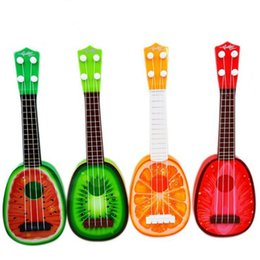 small musical instruments 2021 - Small Guitar For Begginers Kids Early Learning Music Instrument Toy Ukulele BJ62 Guitar Toy Q0313