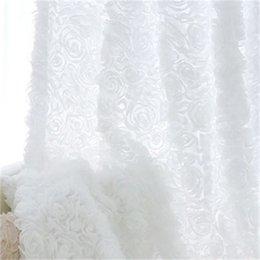 Корейская принцесса стиль белая розовая окна занавески для гостиной девушки постельное белье Drapes Cotinas Para Sala декоративный 327 R2 на Распродаже