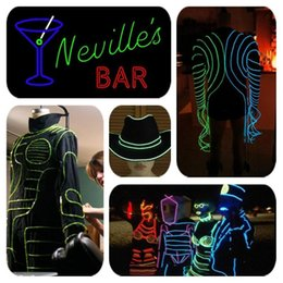 72 battery Australia - Flexible Neon Light EL Electro Luminescent Wires Car Decoration House Club Holiday Party Decor Cosplay Dress LED Strips