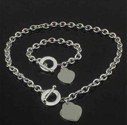 venda por atacado Moda alta versão de aço inoxidável letra inicial colar cadeias de bracelete para senhora festa festa amantes casamento presente jóias com caixa
